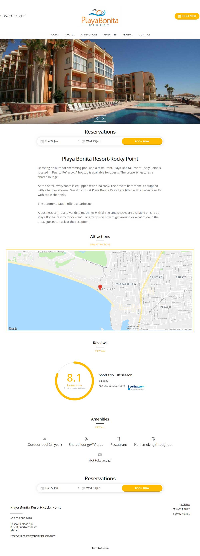 Playa Bonita Hotel in Puerto Penasco (Rocky Point Mexico). Click here to visit Playa Bonita's website.
