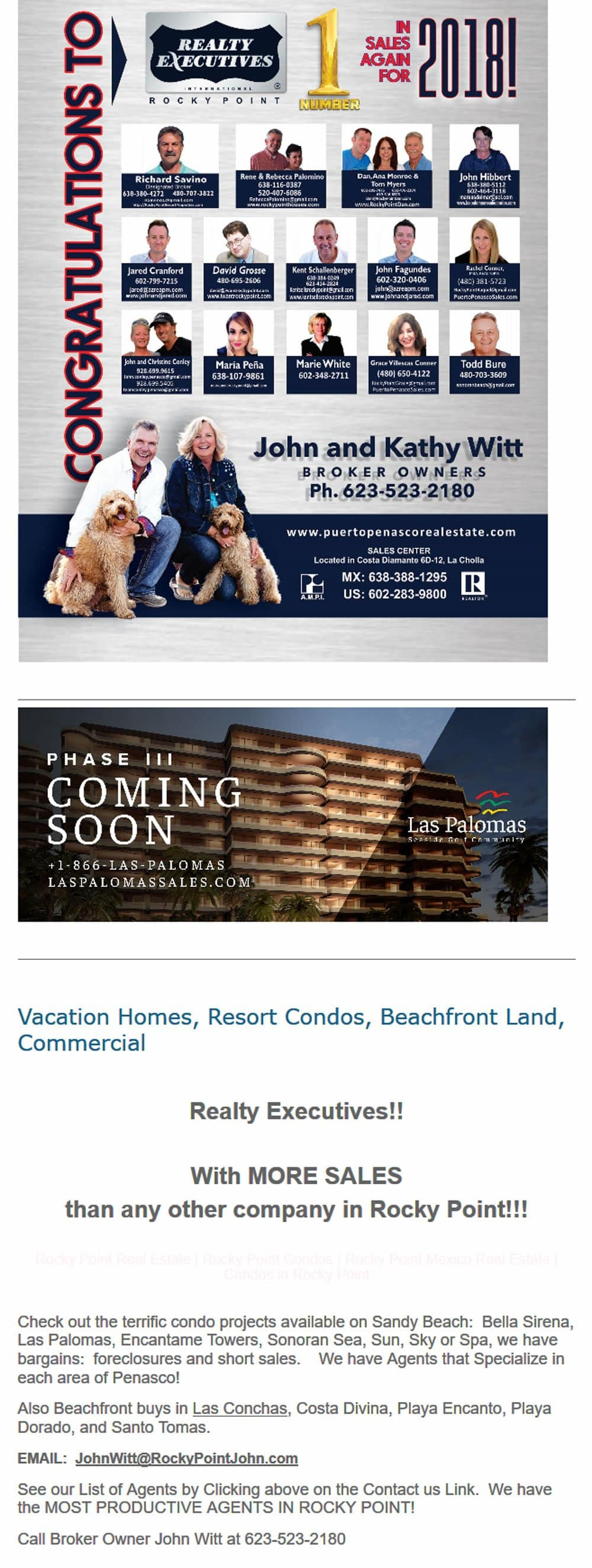 Realty Executives Real Estate in Puerto Penasco (Rocky Point Mexico). Click here to visit the Realty Executives website.